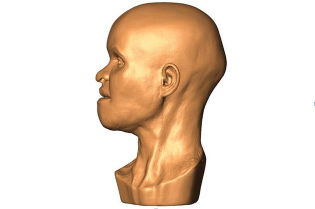 Reconstrução 3D dorosto de Luzia /André Strauss