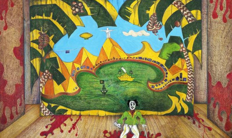 """Desenho de Hélio Eichbauer para o cenário do segundo ato da peça """"O Rei da Vela"""", do Teatro Oficina /Reprodução"""